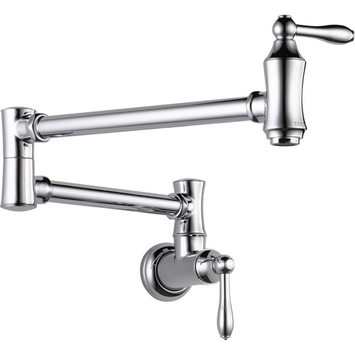 Delta Traditional Kitchen Wall Mounted Chrome Pot filler Faucet 535199