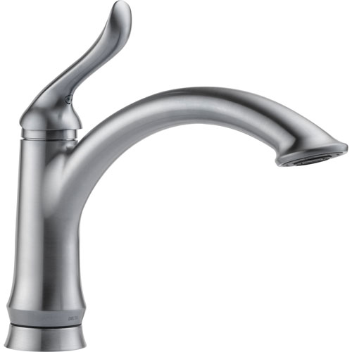Delta Linden Single Handle One Hole Arctic Stainless Kitchen Faucet 610436