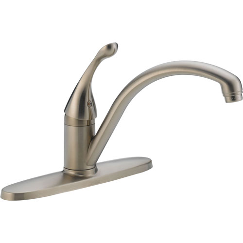 Delta Collins One Handle Stainless Steel Water Efficient Kitchen Faucet 465278