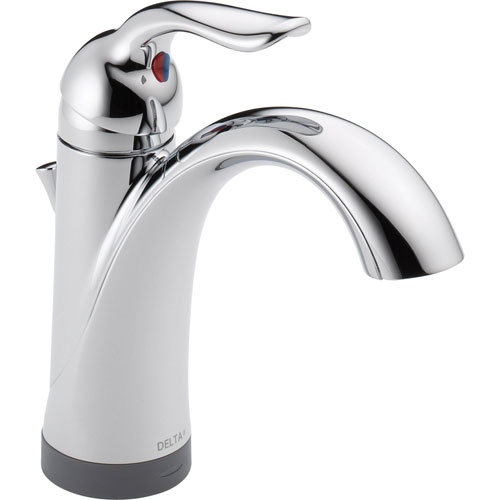 Delta Lahara Single Handle High Arc Chrome Bathroom Faucet with Touch2O 605414