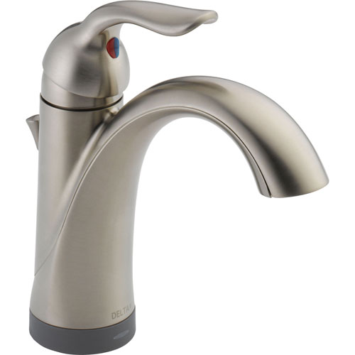 Delta Lahara Touch2O High Arc Brilliance Stainless Bathroom Faucet 532554