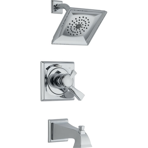 Delta Dryden Dual Control Chrome Tub and Shower Combination Trim 454593