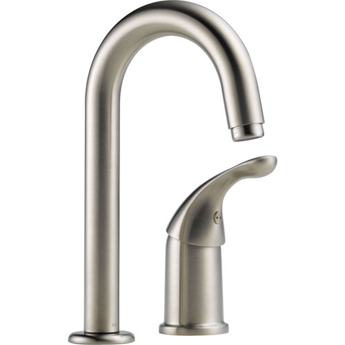 Delta Classic 2 Hole Single Lever Handle Bar Faucet in Stainless Steel 474543