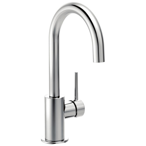 Delta Trinsic Collection Chrome Finish Single Lever Handle 360-degree Swivel Spout Modern Bar Sink Faucet 729160