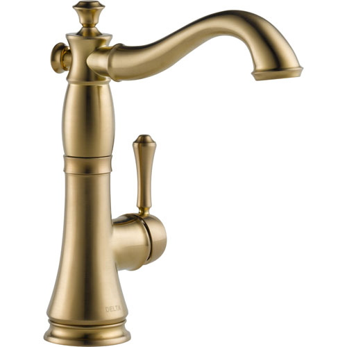 Delta Cassidy Champagne Bronze Single Hole 1 Handle Bar Faucet 579498