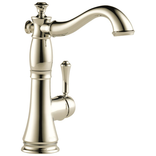 Delta Cassidy Collection Polished Nickel Finish Single Side Lever Handle Bar Sink Faucet 751592
