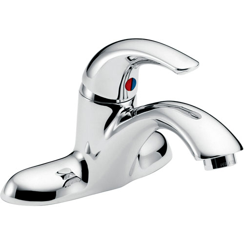 Delta Teck Two-Hole Single Handle Mid Arc Bathroom Faucet in Chrome 664761