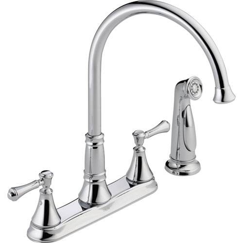 Delta Cassidy Gooseneck Chrome Kitchen Faucet With Side