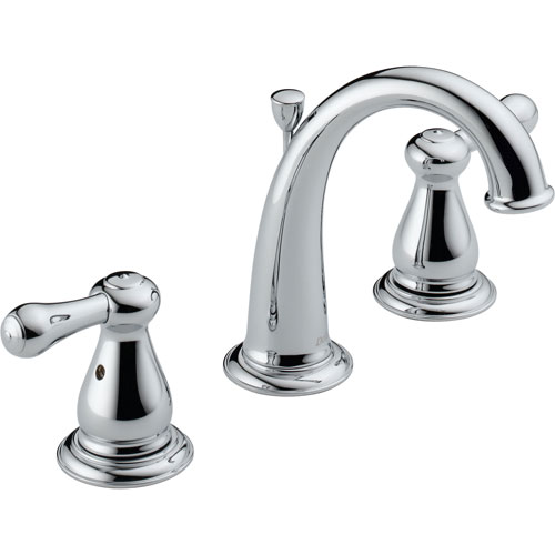 Delta Leland 8 in. Widespread 2-Handle High Arc Bathroom Faucet in Chrome 572932