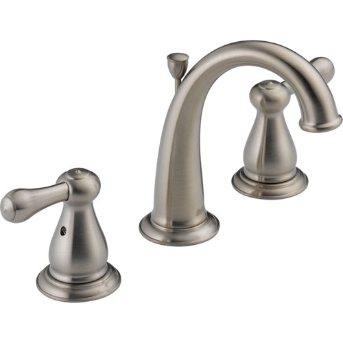 Delta Leland High Arc Stainless Finish Widespread Bathroom Sink Faucet 474227