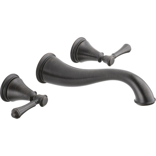 Delta Cassidy 2-Handle Venetian Bronze Wall Mount Bathroom Sink Faucet 579522