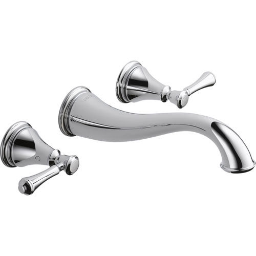 Delta Cassidy 2-Handle Chrome Finish Wall Mount Bathroom Sink Faucet 579526