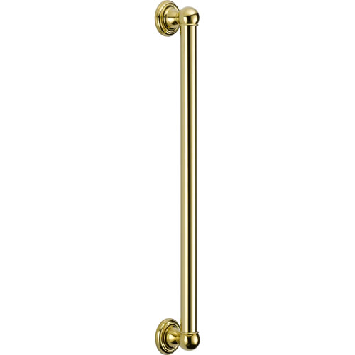 Delta ADA 24 inch Wall Grab Bar in Polished Brass 561080