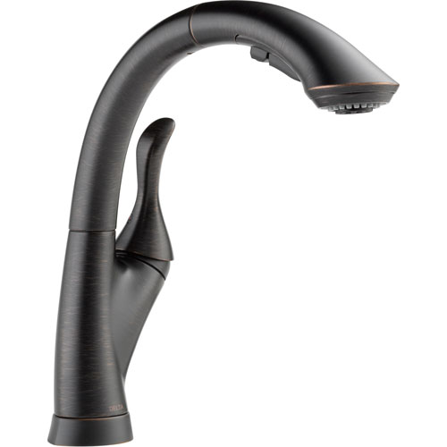 linden single handle pull out spray kitchen faucet