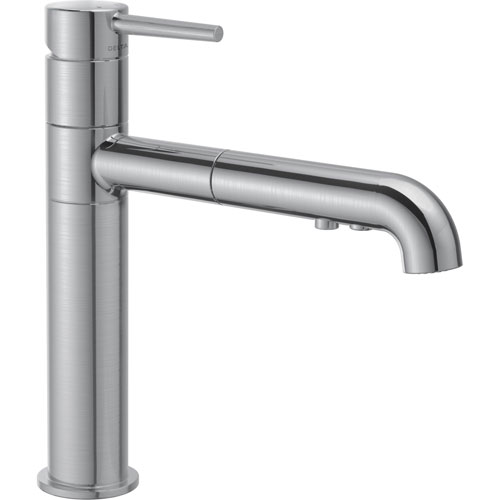 Delta Trinsic Modern Arctic Stainless Pull-Out Sprayer Kitchen Faucet 641547