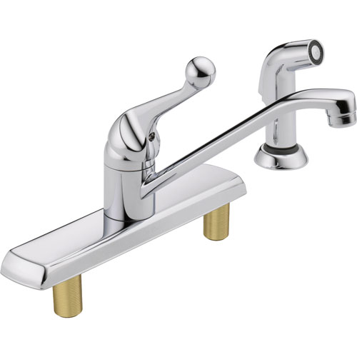 Delta Classic Single Handle Side Sprayer Kitchen Faucet in Chrome 610444