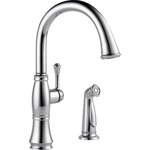 Delta Cassidy Single Handle Side Sprayer Kitchen Faucet in Chrome 612375