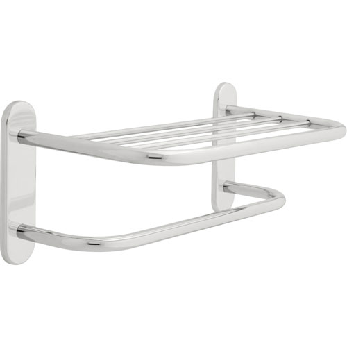 Delta 18 inch Concealed Mount Towel Shelf with Single Towel Bar in Chrome 572860