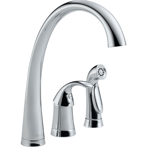 Delta Pilar Single Handle Chrome Finish Kitchen Faucet with Side Sprayer 474488