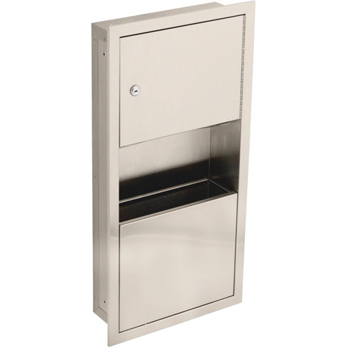 Delta Small Recessed Stainless Steel Towel Dispenser & Waste Receptacle 572966