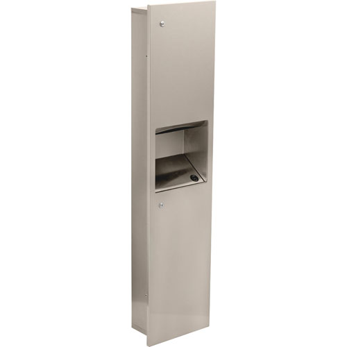 Delta Large Recessed Stainless Steel Towel Dispenser & Waste Receptacle 572967
