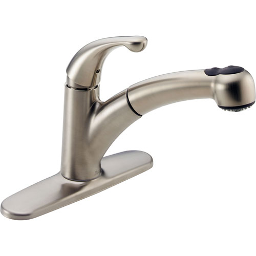 Delta Palo Stainless Steel Finish 1 Handle Pull-Out Spray Kitchen Faucet 450417