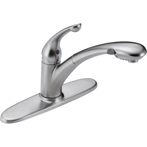 Delta Signature Arctic Stainless Single Handle Pull-Out Kitchen Faucet 525156