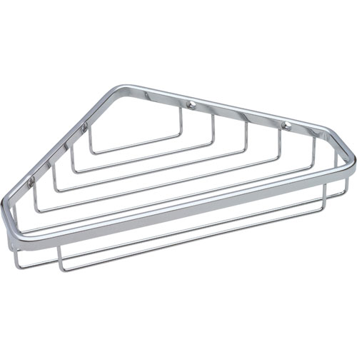 Delta bright stainless steel finish large corner shower - Bathroom corner caddy stainless steel ...