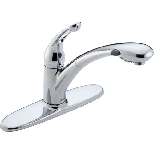 Delta Signature Single Handle Pull-Out Sprayer Kitchen Faucet in Chrome 416933