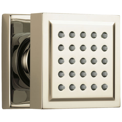 Delta Polished Nickel Finish Wall Surface Mount Modern Square Body Jet Spray D50150PN