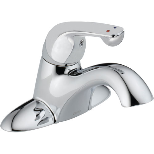 Delta Commercial Centerset Single Handle Mid Arc Chrome Bathroom Faucet 555828