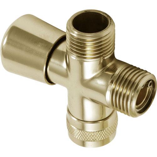 Delta Traditional Polished Brass 3-Way Handshower Shower Diverter 708049
