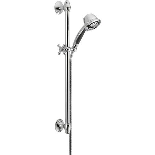 Delta 5-Spray Chrome Handheld Shower Head with Slide Bar 561052