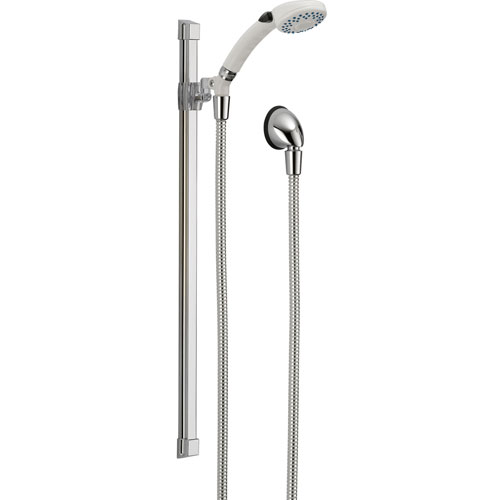 Delta 2-Setting White / Chrome Glide Rail Personal Handheld Shower Faucet 561102