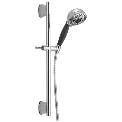 Delta Universal Showering Components Collection Chrome Finish Personal Hand Held Shower Spray on Slidebar with Hose D51559