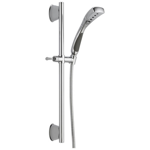Delta Universal Showering Components Collection Chrome Finish Modern Personal Hand Shower with Slide Bar and Hose D51569