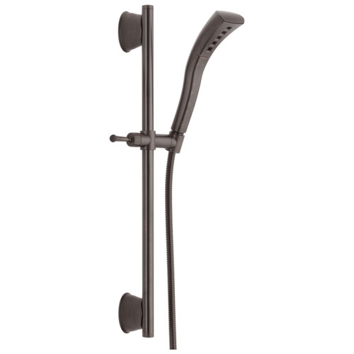 Delta Universal Showering Components Collection Venetian Bronze Finish Wall Mounted Slide Bar Hand Shower Sprayer with Hose D51579RB
