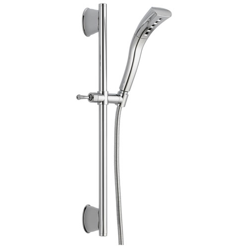 Delta Universal Showering Components Collection Chrome Finish Handheld Shower Spray with Slidebar and Hose D51579