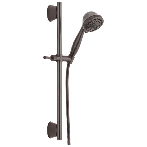 Delta Universal Showering Components Collection Venetian Bronze Finish Watersense Wall Mount Hand Shower Spray with Slidebar and Hose D51589RB
