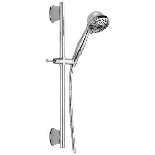 Delta Universal Showering Components Collection Chrome Finish Handheld Shower Spray with Slidebar and Hose D51589