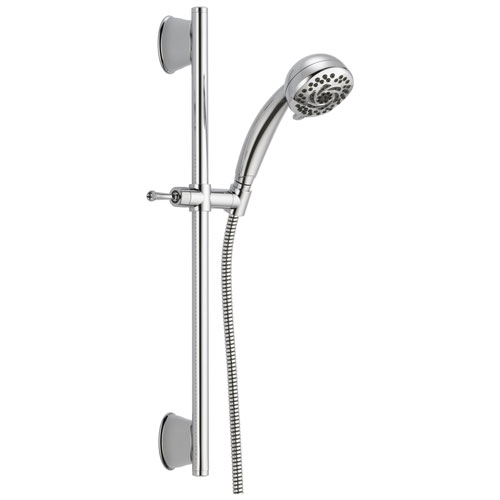 Delta Universal Showering Components Collection Chrome Finish Watersense Wall Mount Hand Shower Spray with Slidebar and Hose D51599DS