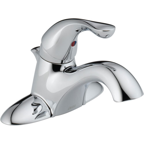 Delta Classic 4 in. Centerset Single Handle Lavatory Faucet in Chrome 586346