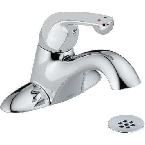 Delta Commercial Single Handle Low-Arc Chrome Centerset Bathroom Faucet 608698