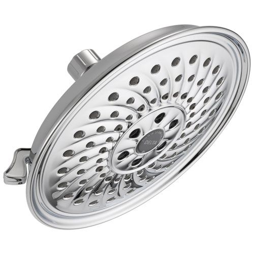 Delta Universal Showering Components Collection Chrome Finish H2Okinetic Watersense 3-Setting Raincan Shower Head D52687