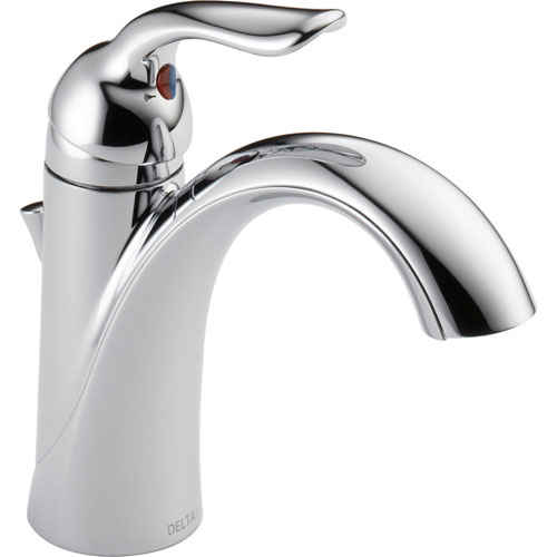 Delta Lahara Chrome Finish Single Hole 1-Handle Bathroom Sink Faucet 601700