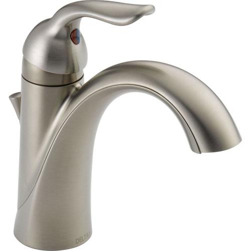 Delta Lahara Stainless Steel Finish Single Hole 1-Handle Bathroom Faucet 601703