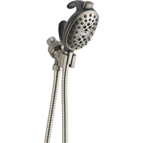 Delta Stainless Steel Finish Shower Mount Palm Grip Handheld Showerhead 561187