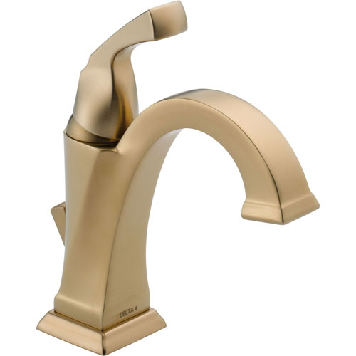 Delta Dryden Champagne Bronze Single-Hole 1-Handle Modern Bathroom Faucet 555940