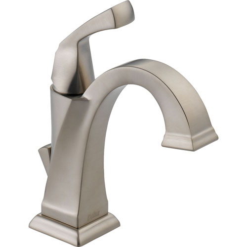 Delta Dryden Stainless Steel Finish Single Hole 1 Handle Bathroom Fauc