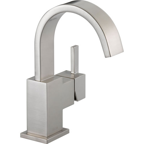 Delta Vero Single Handle Modern Stainless Steel Finish Bathroom Faucet 521790